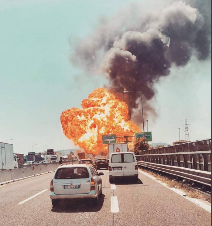 An explosion in Bologna
