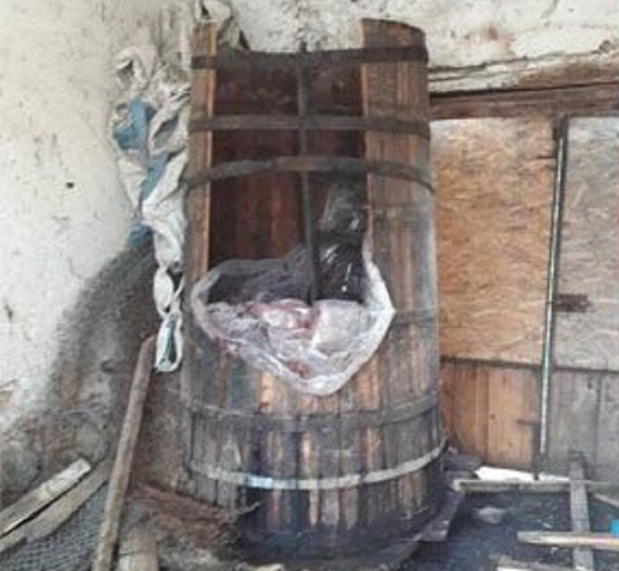 barrel of plums