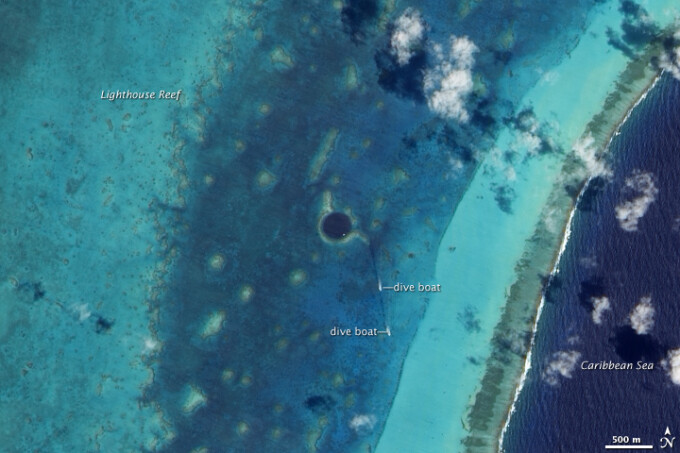 pesteri subacvatice in Bahamas