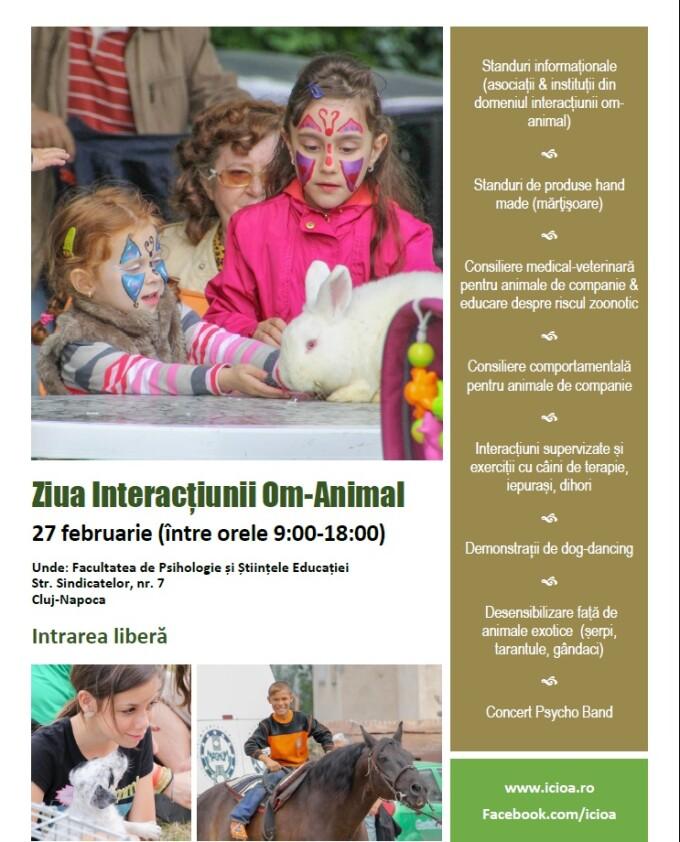 Ziua Interactiunii Om-Animal, sarbatorita la UBB. Cainii de terapie vor face spectacol