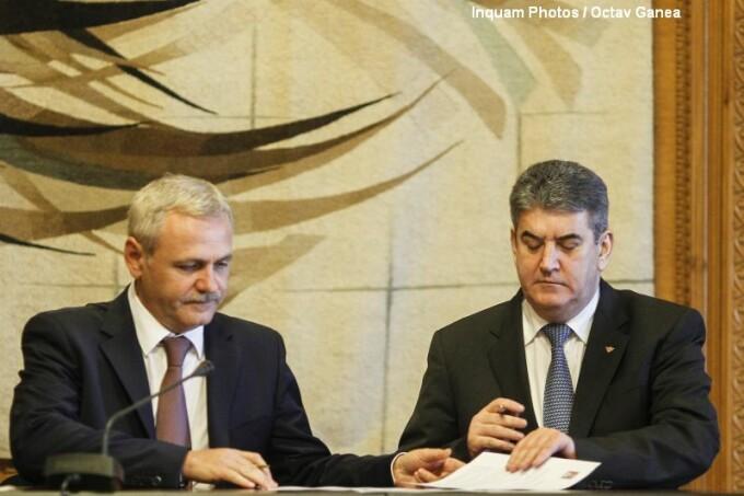 Gabriel Oprea si Liviu Dragnea, semnare protocol