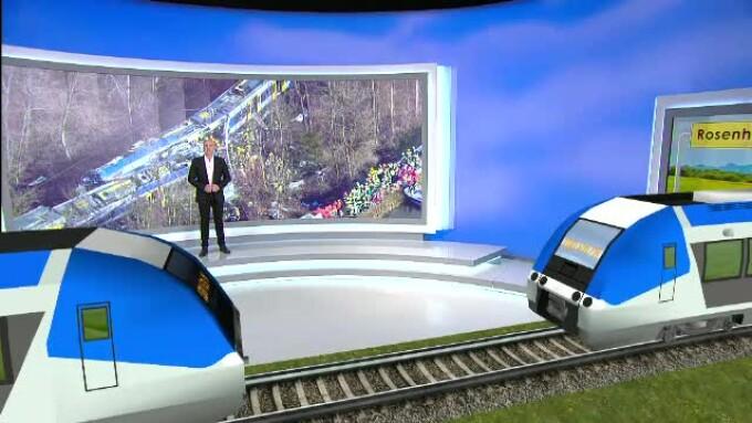 Animatie accident tren Germania