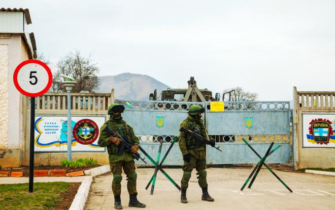 soldati rusi in Crimeea