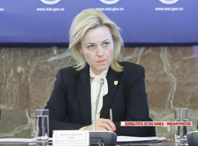 Carmen Dan, ministrul Afacerilor Interne
