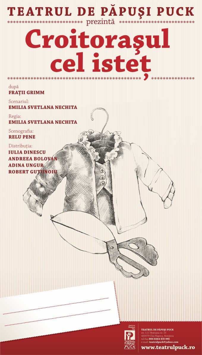 """""""Croitorasul ce istet"""", primul spectacol al anului 2016 de pe scena Teatrului """"Puck"""", are o noua distributie"""