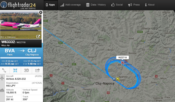 wizz air pe flight radar