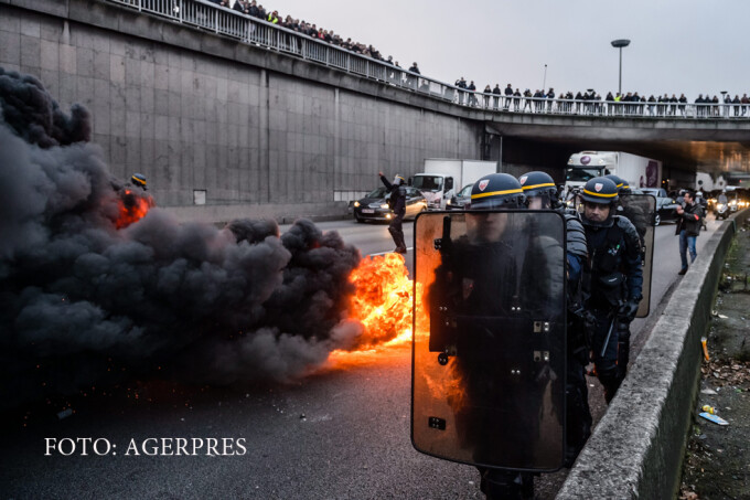 protest al taximetristilor in Paris