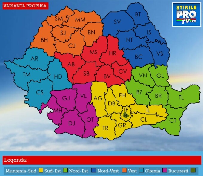 Regionalizarea Romaniei, aplicatie