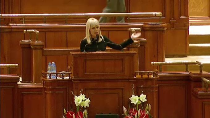 Elena Udrea, in plenul Parlamentului