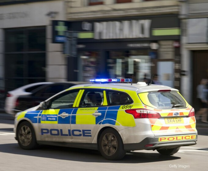masina de politie UK