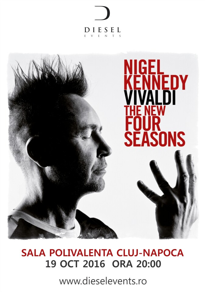 Nigel Kennedy, celebrul violonist britanic, revine cu un show inovator la Cluj-Napoca