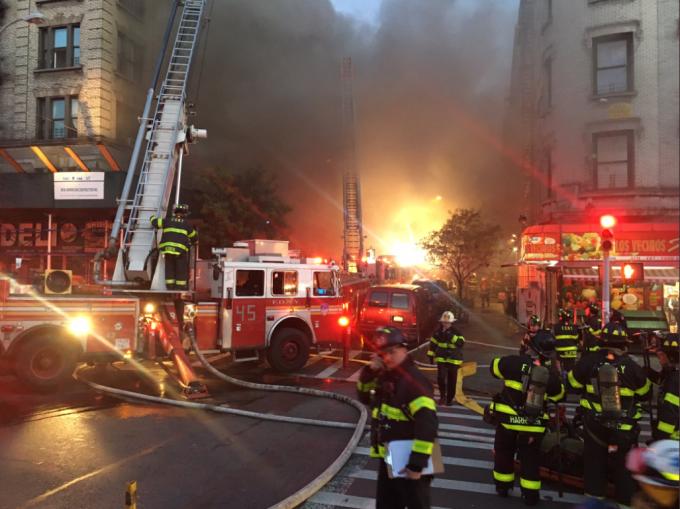 Incendiu la New York