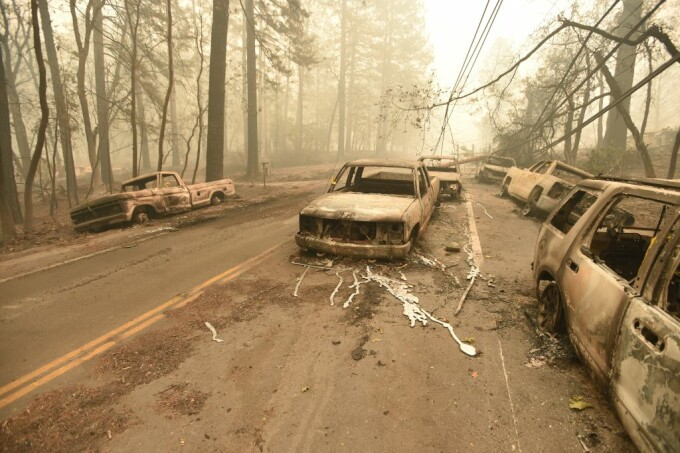 California fire fighting with three devastating fires.</p><p> <img src=
