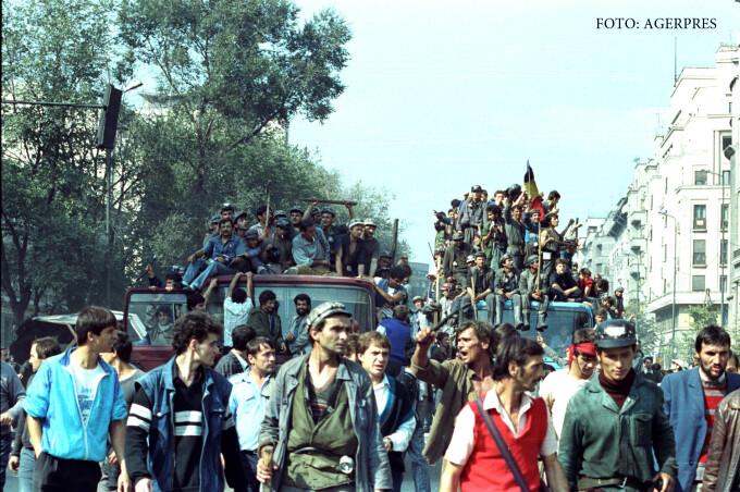 mineriada din 13-15 iunie 1990 FOTO AGERPRES