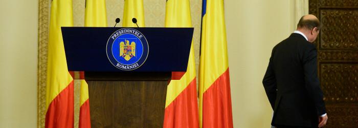 Traian Basescu, ultima conferinta, iesire
