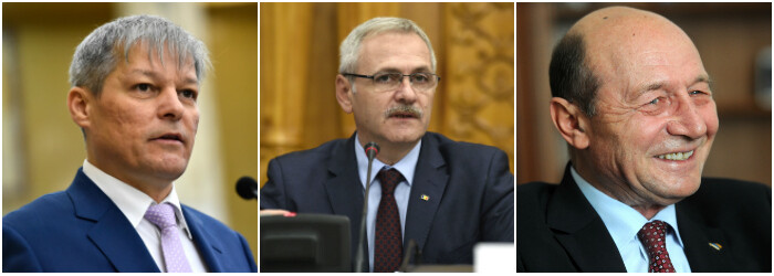 Dacian Ciolos, Liviu Dragnea, Traian Basescu COVER