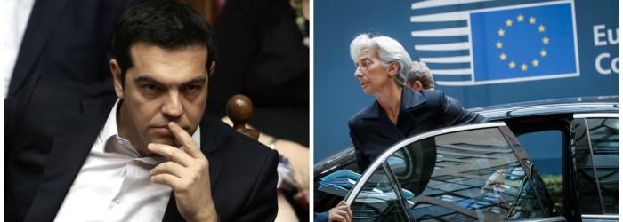 Alexis Tsipras, Christine Lagarde cover - AGERPRES