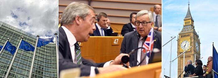 cover brexit PE Londra Faragae Juncker
