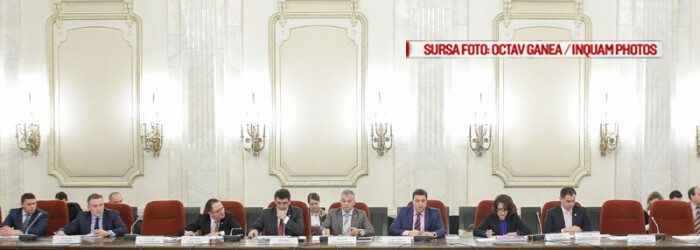 Comisia juridica a Senatului Romaniei, condusa de senatorul Serban Nicolae