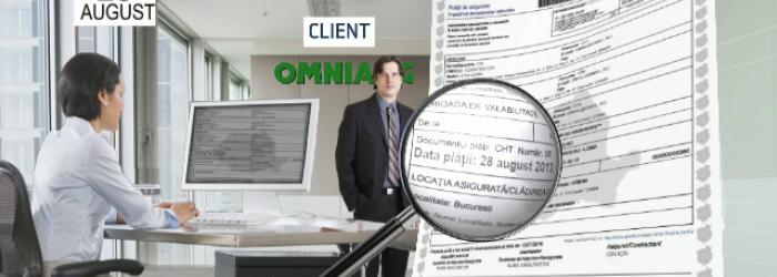 Schema prin care ar fi fost modificate datele de pe asigurari la Omniasig.