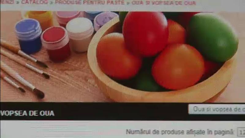 Masa de Paste, cumparata din varful patului. Magazinele online livreaza pana si oua rosii si asteapta cresteri la vanzari