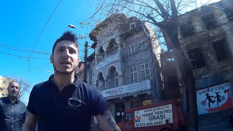 Conflict in traficul din Bucuresti. Un biciclist a fost amenintat cu cutitul si lovit dupa ce a depasit o coloana de masini