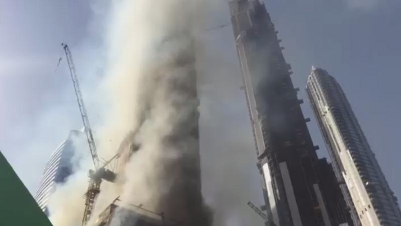 Incendiu in apropiere de turnul Burj Khalifa, din Dubai, cea mai inalta cladire din lume