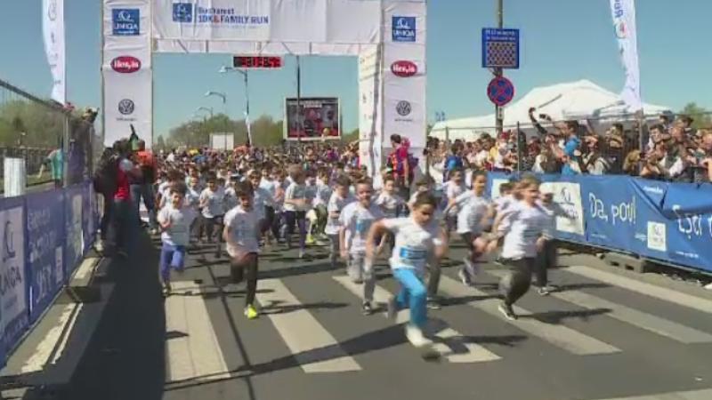 6.000 de oameni au participat la un semi-maraton in Bucuresti, in scopuri caritabile. Copiii au alergat 3 kilometri