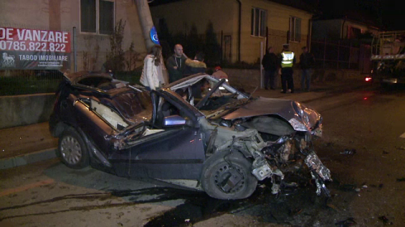 Accident in Sibiu, la cateva sute de metri de casa lui Klaus Iohannis. Soferul de 28 de ani a scapat in mod miraculos