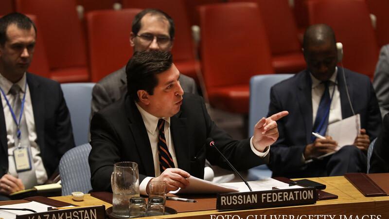 Rusia a blocat o rezolutie ONU care condamna atacul chimic din Siria. Ambasadorul Kremlinului a facut circ la Natiunile Unite