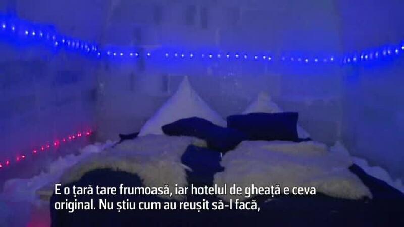 Hotelul de gheata din Sibiu i-a uimit pe turistii straini.