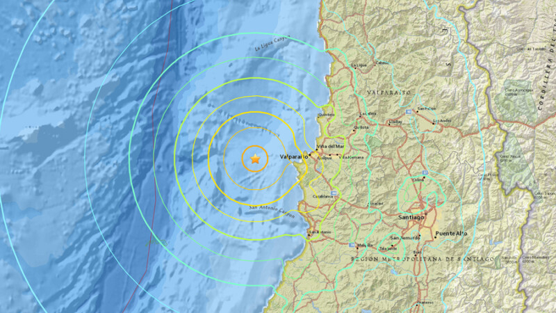 Cutremur cu magnitudinea 6,9, in Chile. Nimeni nu a fost ranit, datorita masurilor de protectie anti-seism din ultimii ani