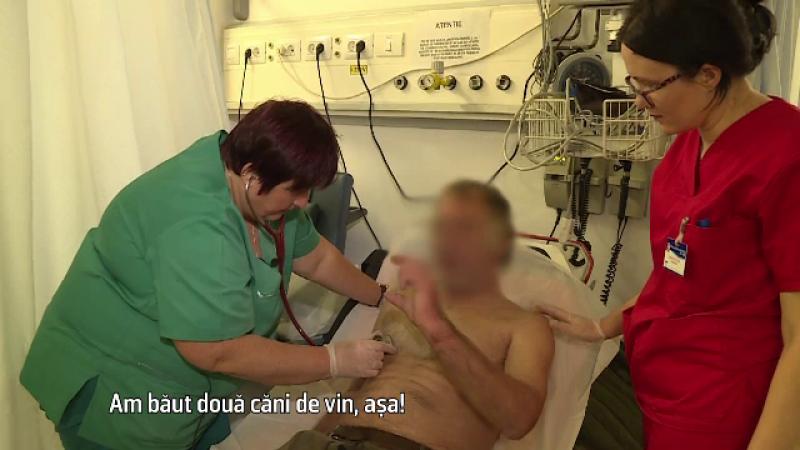 Pana la 40% din pacientii internati au boli provocate de alcool. O zi la Urgente, in Vaslui: