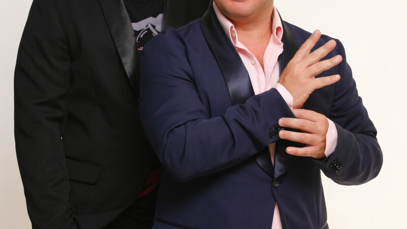 "Smiley si Pavel Bartos – prezentatorii emisiunii ""Romanii au talent"""