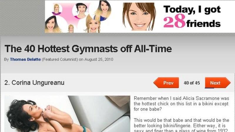 Corina Ungureanu, locul 2 in topul celor mai sexy 40 de gimnaste