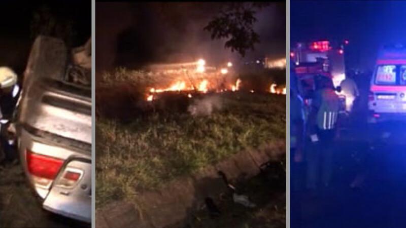 7 morti si 9 raniti, in accidentul din Tulcea. Unul dintre soferi NU avea carnet. FILMUL TRAGEDIEI