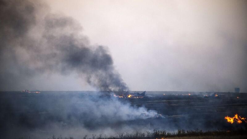 Criza in Ucraina. Un avion de vanatoare a fost doborat in apropiere de locul unde s-a prabusit avionul Malaysia Airlines