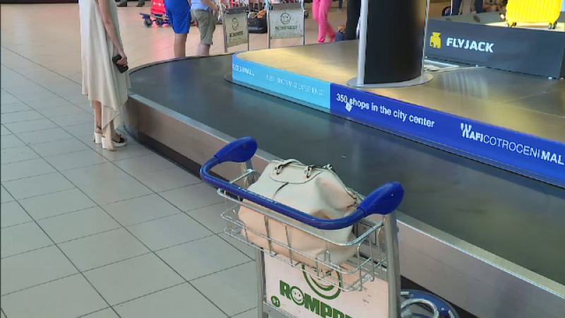 furt, aeroport, bagaje,