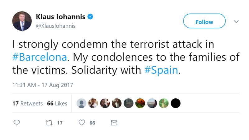 mesaj Twitter Klaus Iohannis