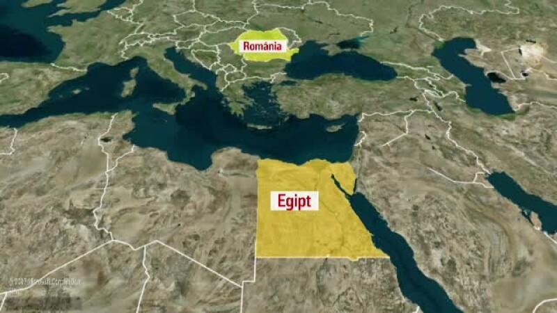 Harta Romania - Egipt