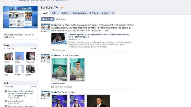 Stirile Pro Tv sunt acum si pe Facebook!