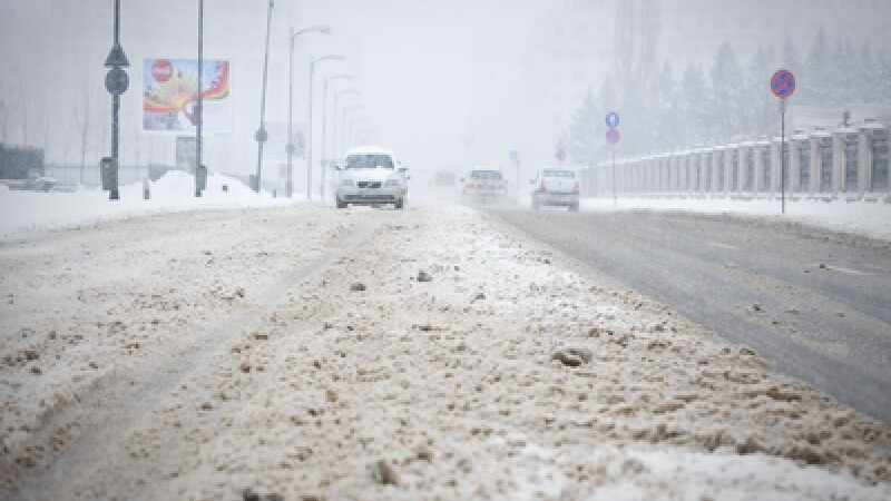 Azi ninge local, mai ales in estul tarii. Vezi prognoza pana sambata