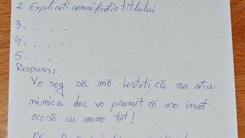 FOTO. Oferta unui elev pentru profesoara de limba romana: