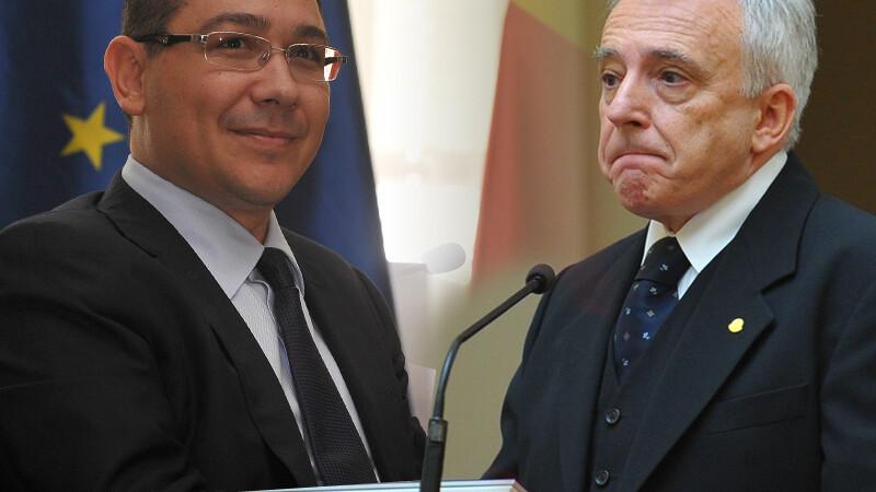 Ponta sare in apararea BNR, dupa atacul lui Basescu: Unde a scuipat boierul, noi ne-am dus sa felicitam