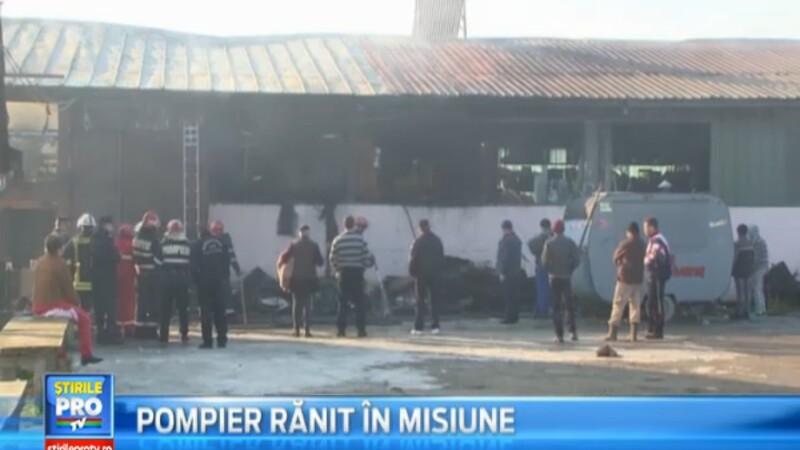 Un incendiu violent a distrus un restaurant si un depozit din Maramures