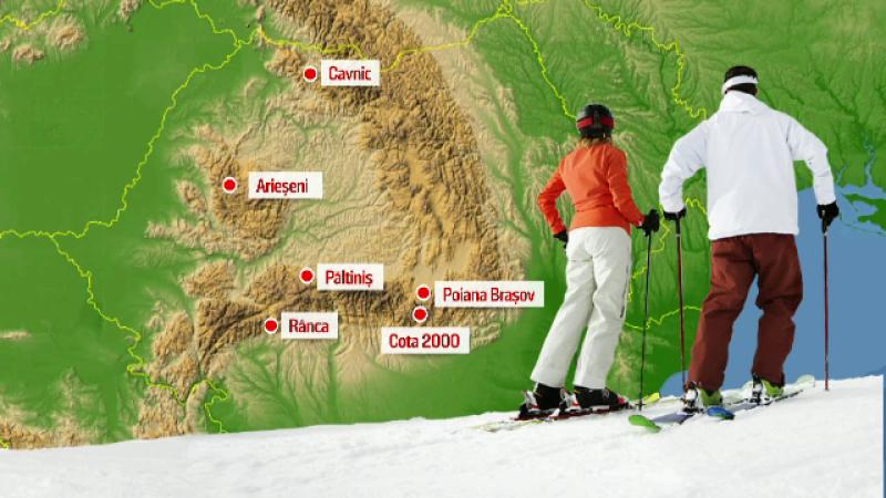 Tunurile de zapada, puse la treaba in statiune in care nu a nins. Partiile din Romania pe care se poate schia de sarbatori