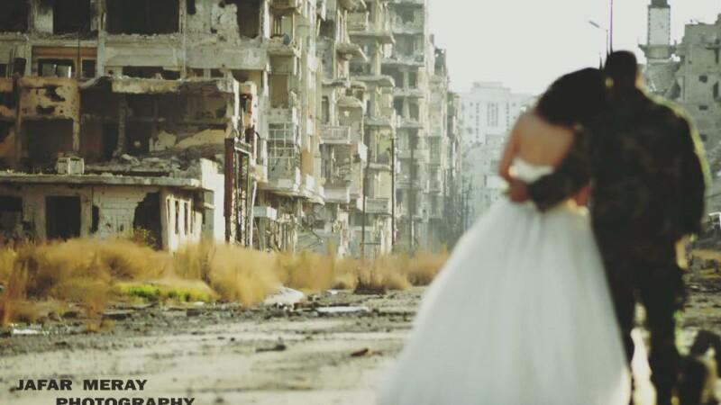 S-au casatorit intr-unul din cele mai periculoase locuri de pe planeta. Povestea emotionanta din spatele acestor imagini