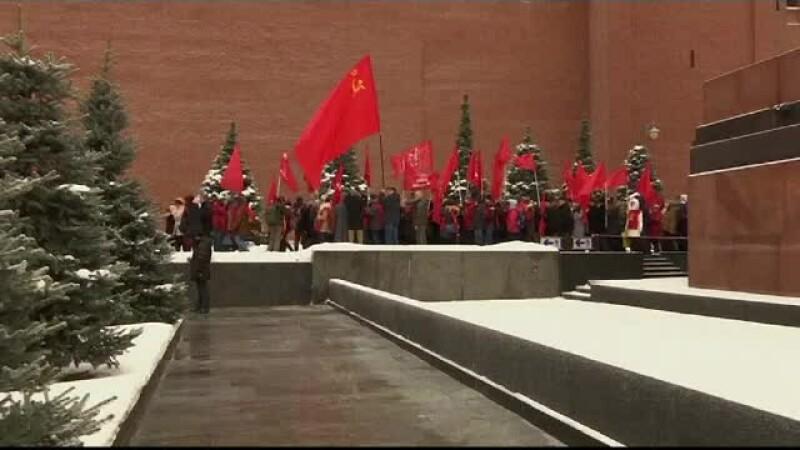 Comunistii din Rusia au comemorat 137 de ani de la nasterea lui Stalin. Discursul tinut de liderul Partidului