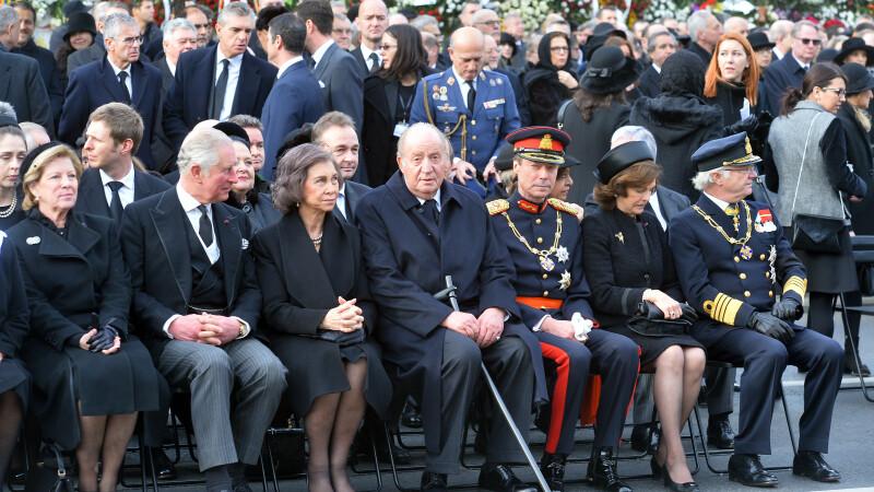 Regele Juan Carlos I al Spaniei, Regina Sofia a Spaniei, Alteta Sa Regala Charles, Print de Wales, Marele Duce Henric de Luxemburg, Regele Carl XIV Gustaf al Suediei, Regina Sofia