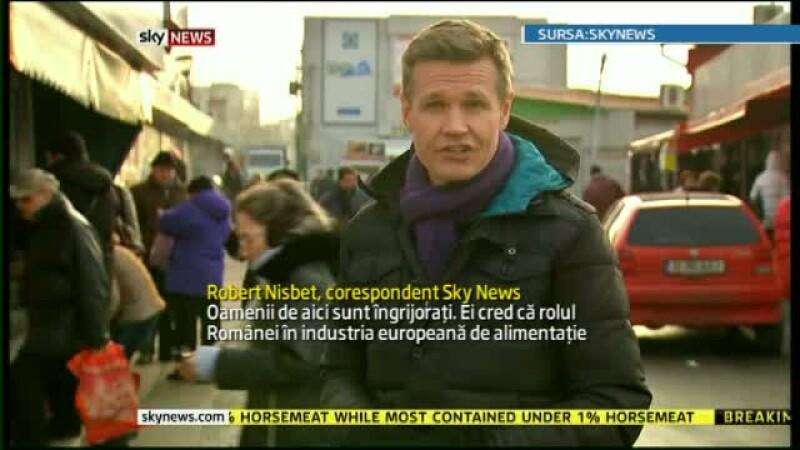 O echipa Sky News a venit in Romania pentru propria ancheta in scandalul carnii de cal din lasagna